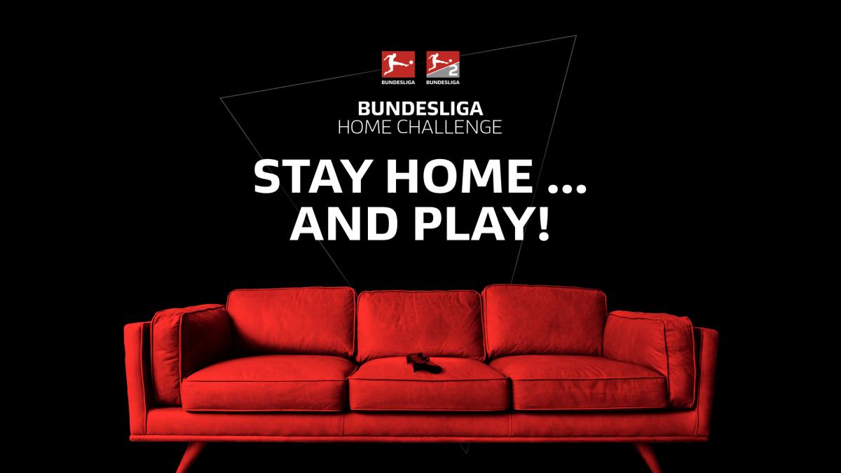 """Unter dem Motto """"Stay home… and play!"""" hat die DFL gemeinsam mit 56 Spielern aus den Clubs der Bundesliga und 2. Bundesliga die Zeit ohne Fußball und Virtual Bundesliga überbrückt."""