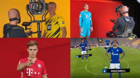 Collage von den Dreharbeiten der DFL Media Days 2020/21