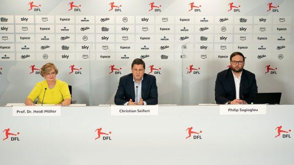 Pressekonferenz vom 03.02.2021 - Prof. Dr. Heidi Möller, Christian Seifert und Philip Sagioglou
