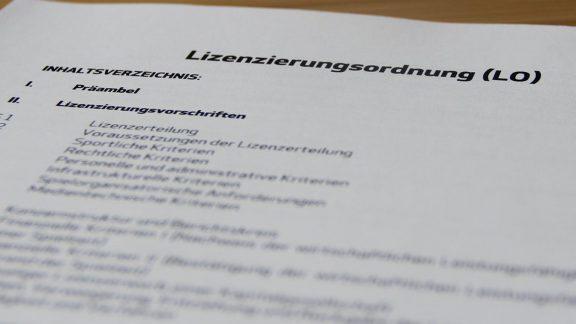 Fotoausschnitt der Lizenzierungsordnung