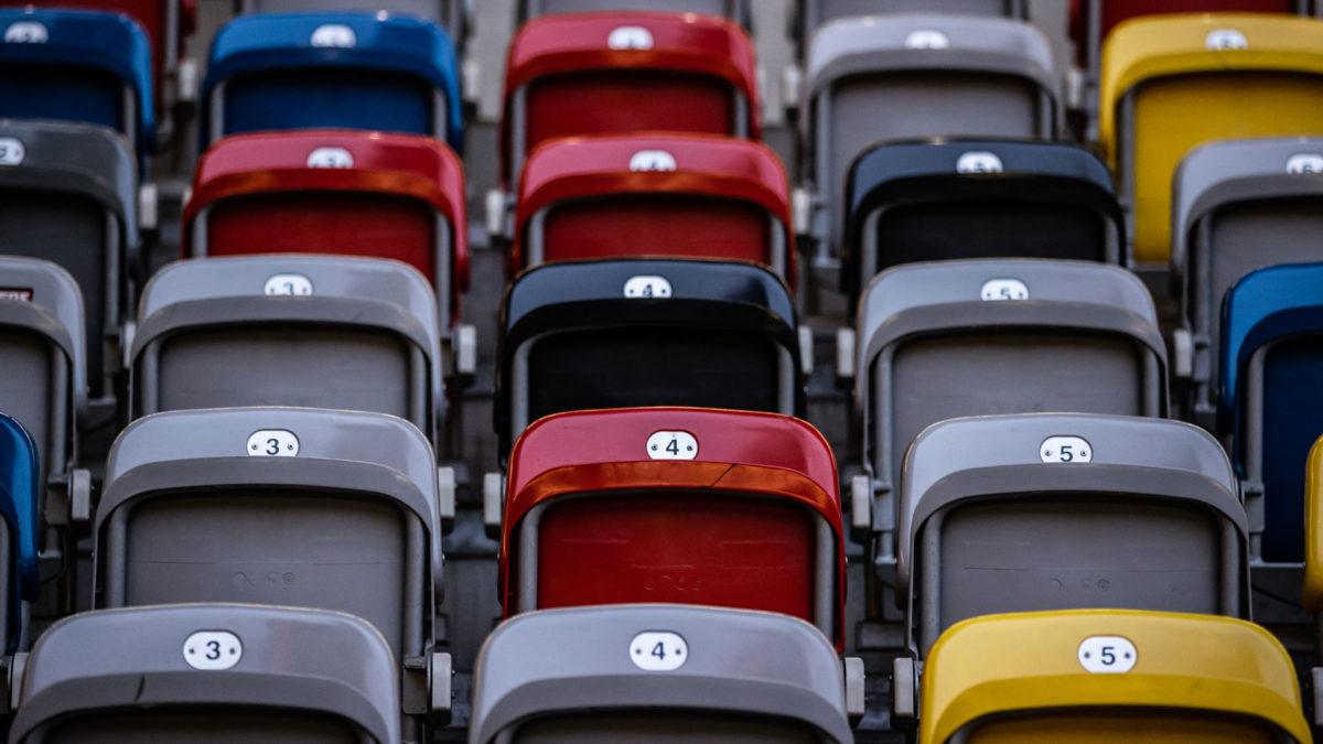 Stadium stand - colorful seats