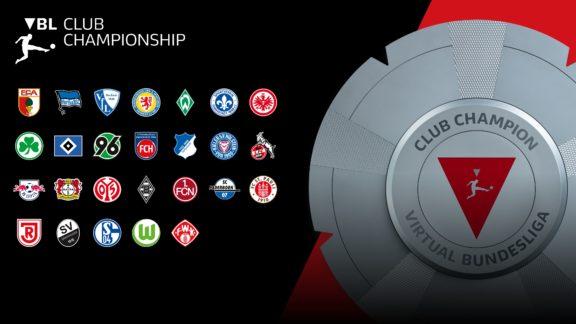 VBL Club Championship with club logos and trophy