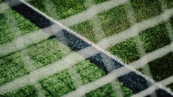 View throught goal net