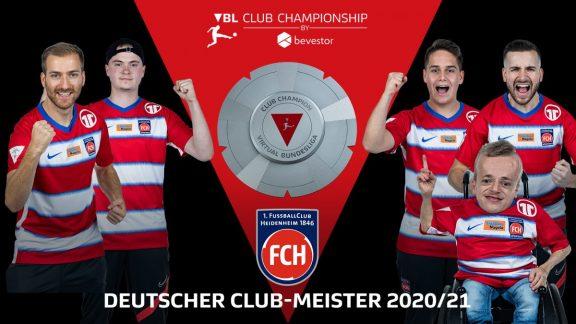 bevestor Virtual Bundesliga: 1. FC Heidenheim 1846 crowned German Club Champion in eFootball