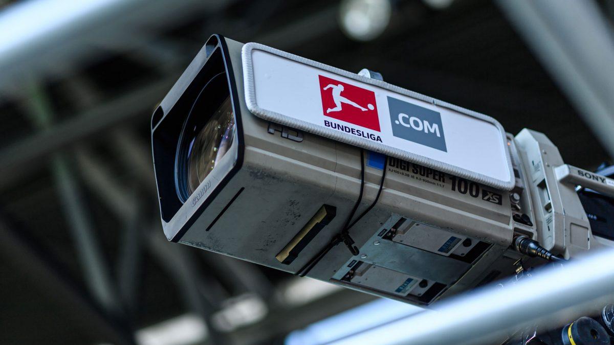 macro shot of a camera in a football stadium