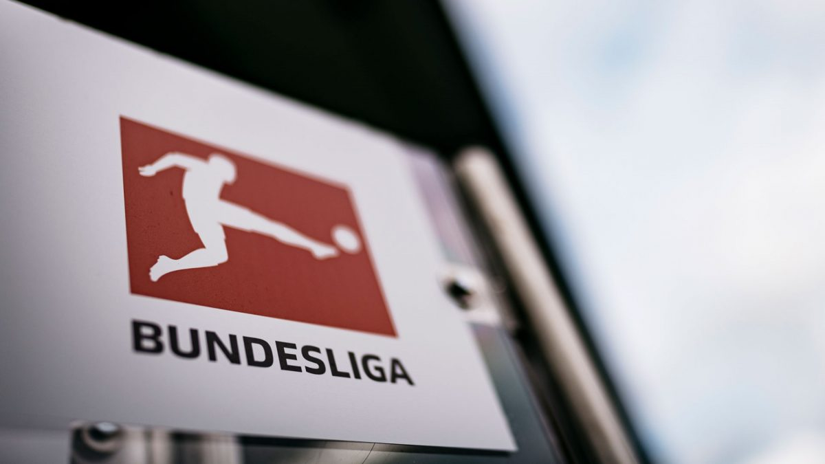 Logo of the Bundesliga on a sign